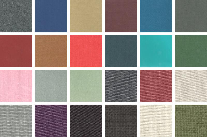 Màu vải menu vải lanh