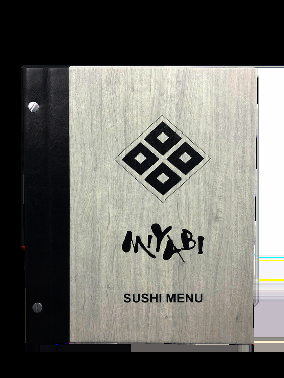 Mẫu menu gỗ cao cấp cho nhà hàng