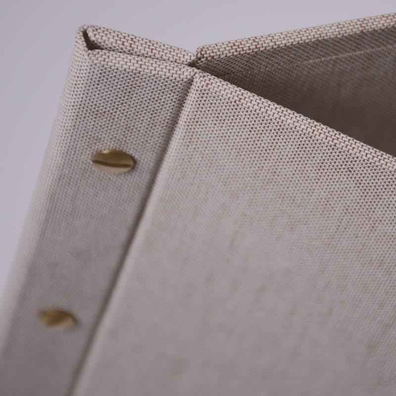 Mẫu menu vải linen/lanh dành cho nhà hàng, quá cafe sang trọng