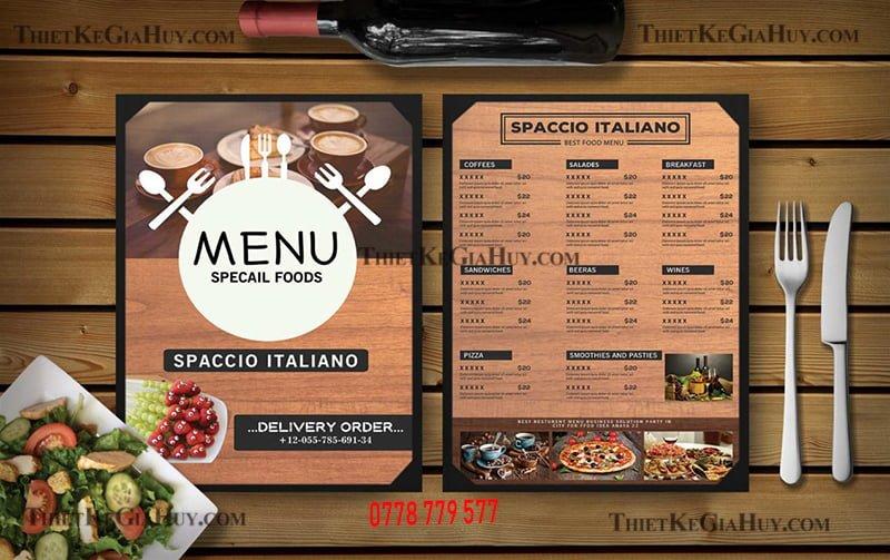 in menu lấy liền
