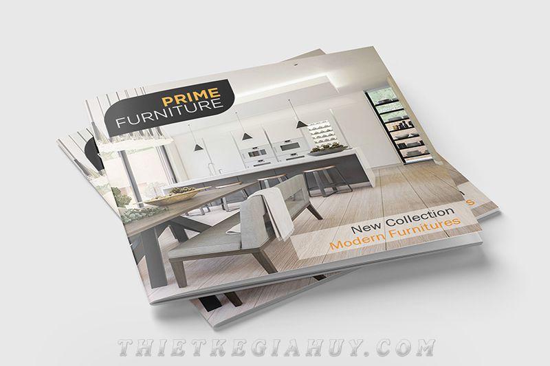 Mẫu in catalogue số lượng ít cho công ty nội thất