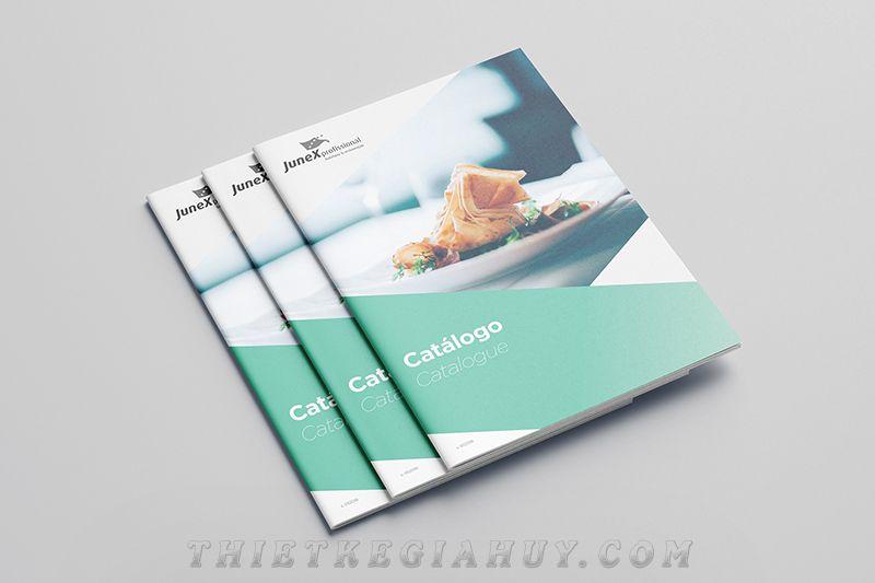 Mẫu catalog thiết kế phong cách nhẹ nhàng