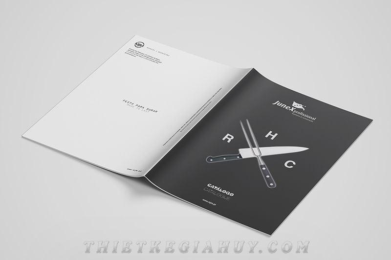 Mẫu thiết kế catalog bấm ghim