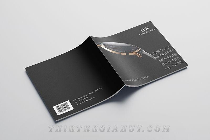 Mẫu thiết kế catalog hãng đồng hồ