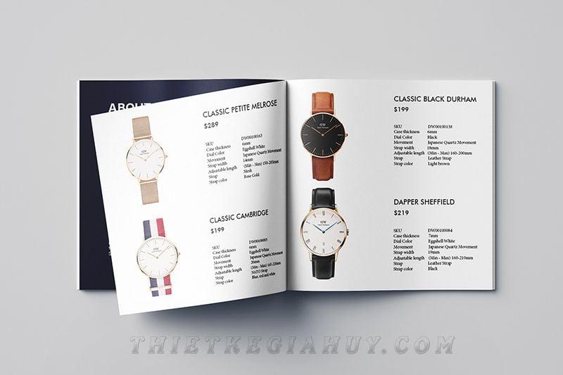 chất liệu giấy in catalog số lượng ít tphcm cho hãng đồng hồ