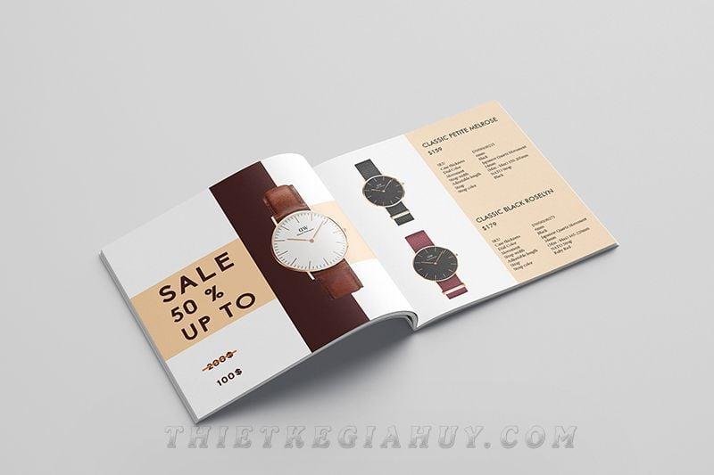 Mẫu thiết kế catalog cho hãng đồng hồ