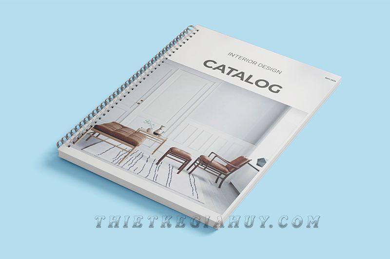 Mẫu bìa catalogue gáy lò xo siêu đẹp