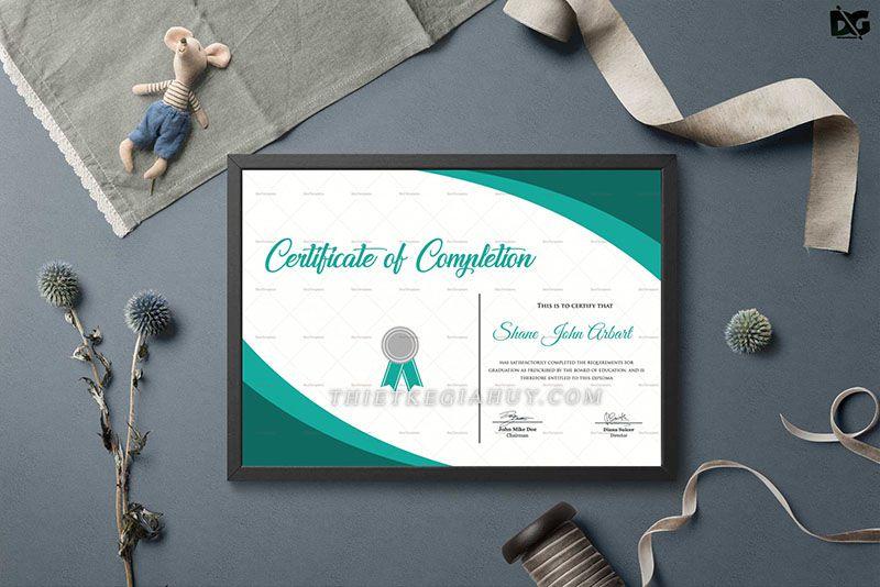 Mẫu design Certificate đẹp cuốn hút