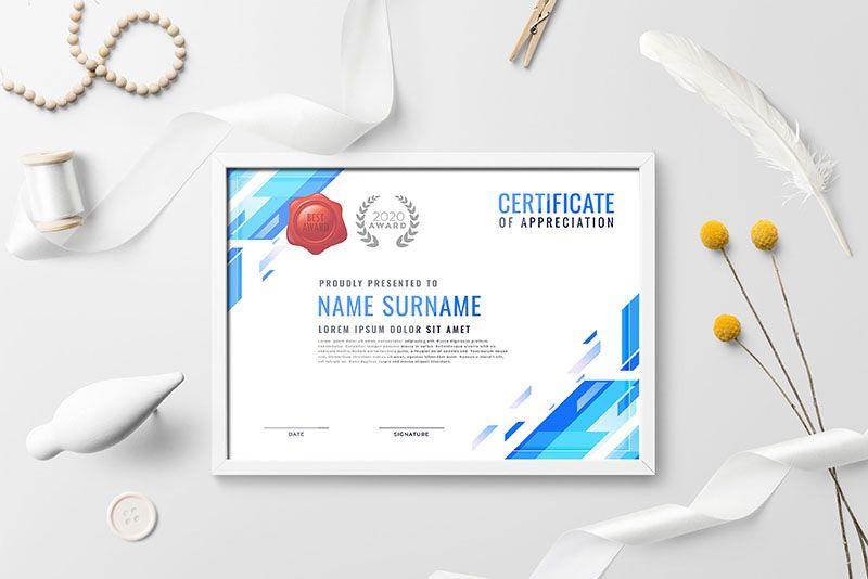 Mẫu design Certificate đẹp tại tphcm