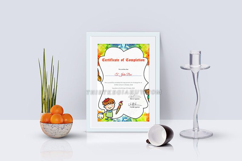 Mẫu giấy khen cho các bé học sinh