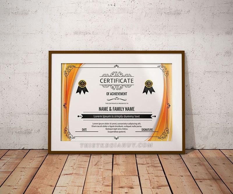 Mẫu design Certificate online