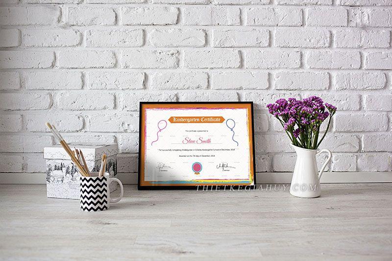 Mẫu thiết kế giấy chứng nhận đẹp