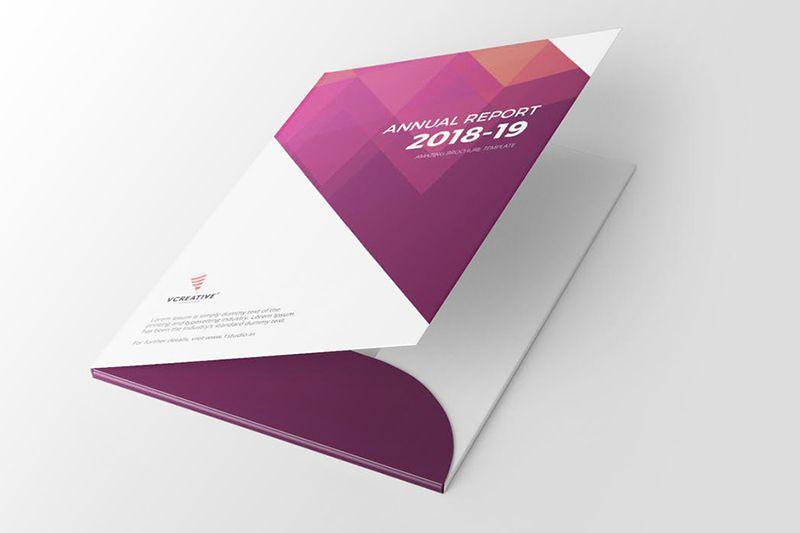 in folder số lượng ít phong cách tay gấp