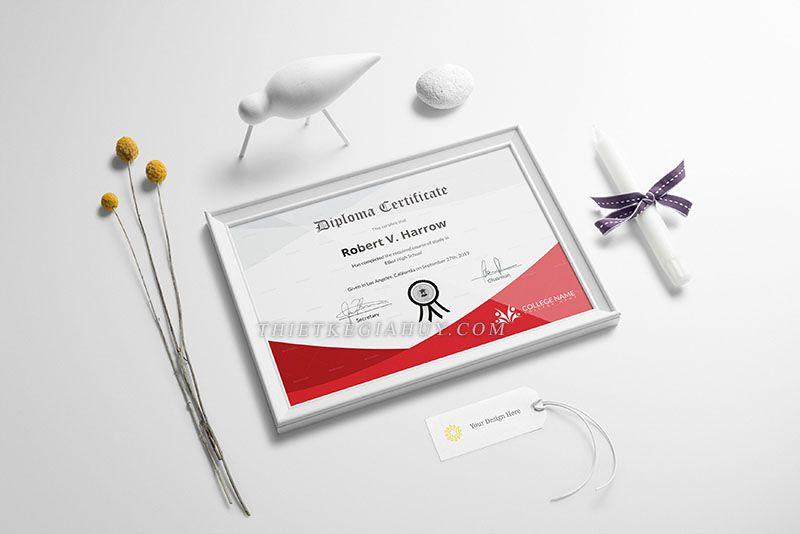 Mẫu thiết kế giấy chứng nhận đẹp tại tphcm
