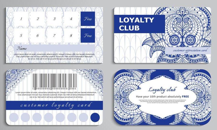 Mẫu thiết kế thẻ theo tiêu chuẩn