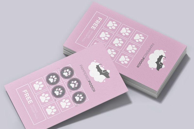 Mẫu thẻ tích điểm cho shop thú cưng