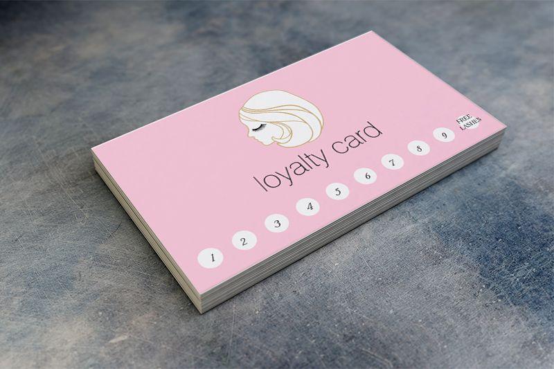 Mẫu thẻ tích điểm cho salon tóc