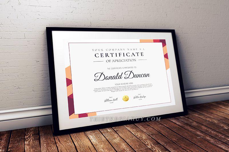 Mẫu thiết kế Certificate đẹp