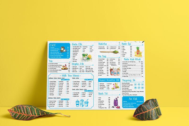 Mẫu thiết kế in menu bìa cứng lấy ngay