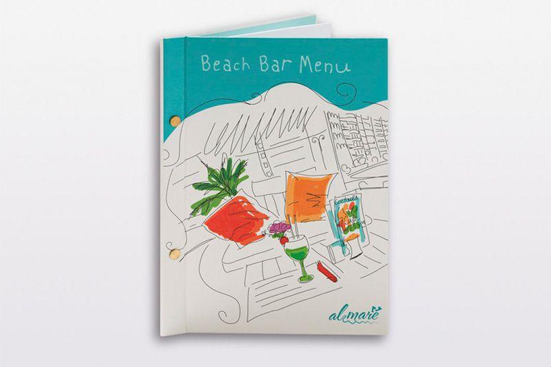 Mẫu menu bìa cứng quán bar