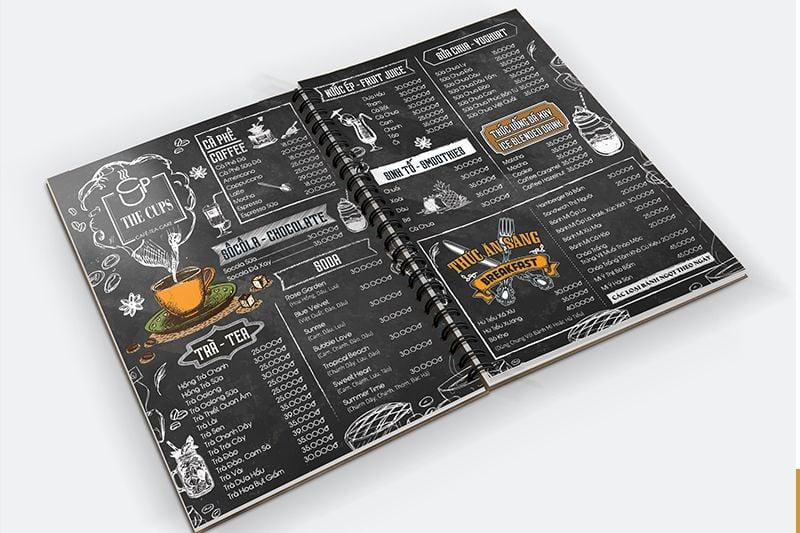 Thiết kế menu quán cafe