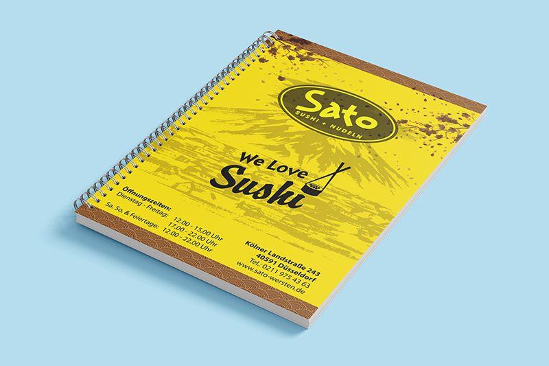 mẫu menu bìa cứng nhà hàng sushi