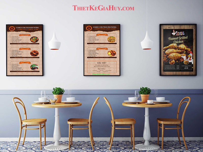 mẫu menu quán ăn vặt fomex