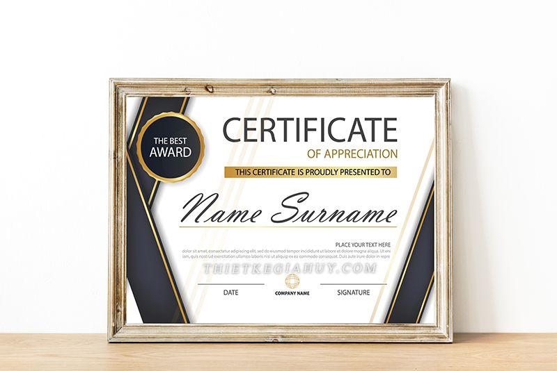 Nội dung thiết kế giấy chứng nhận