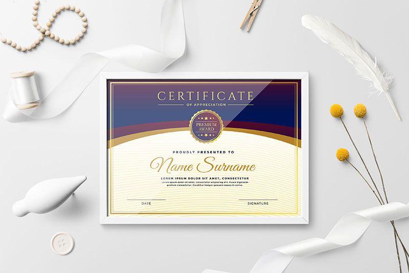 Mẫu Certificate đẹp
