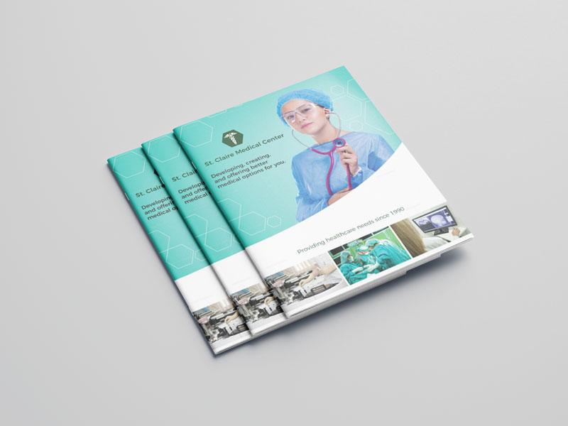 Mẫu catalog bấm ghim dành cho bệnh viện