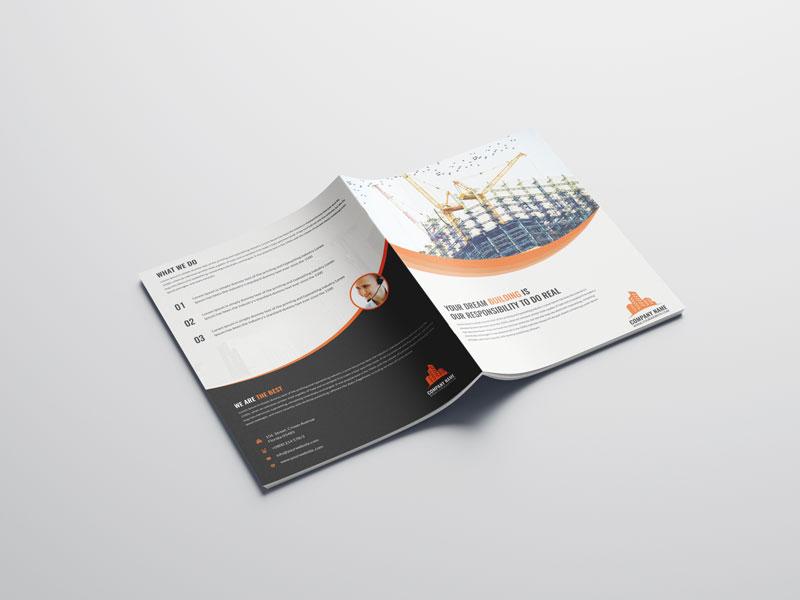 Mẫu thiết kế catalog công ty xây dựng