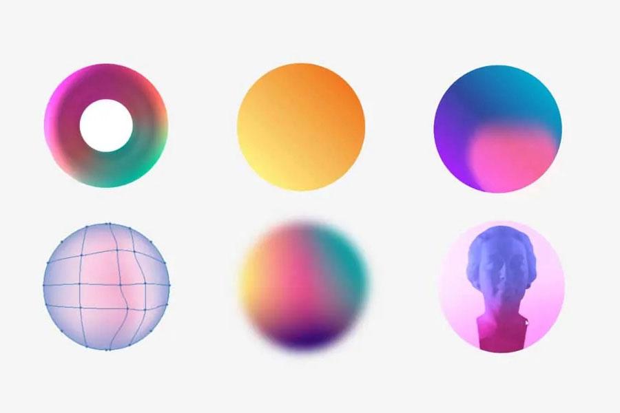 Màu sắc Gradient trong thiết kế