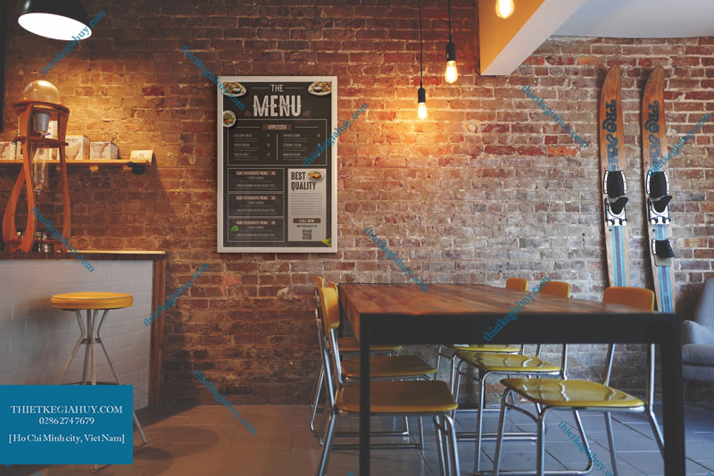 Mẫu thiết kế menu treo tường tphcm đẹp hút hồn