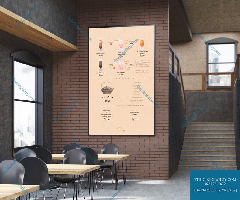 Mẫu thiết kế menu dán tường