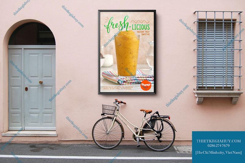 Mẫu menu dán tường cho quán cafe