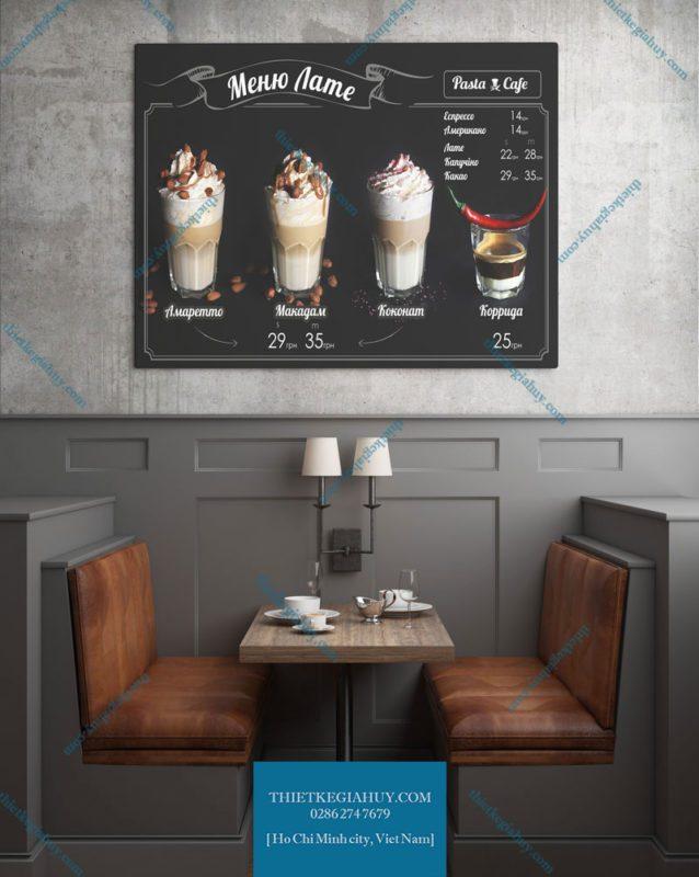 Mẫu in menu dán tường tphcm siêu đẹp