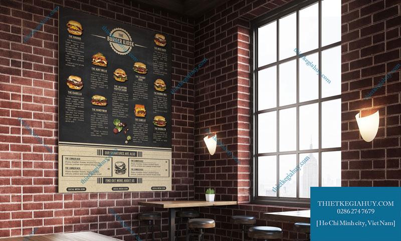 Mẫu in menu dán tường tphcm siêu đẹp dành cho quán cafe
