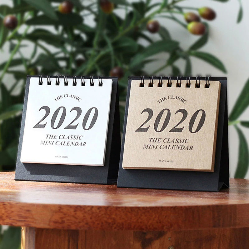 Mẫu mini desk calendar giấy kraft