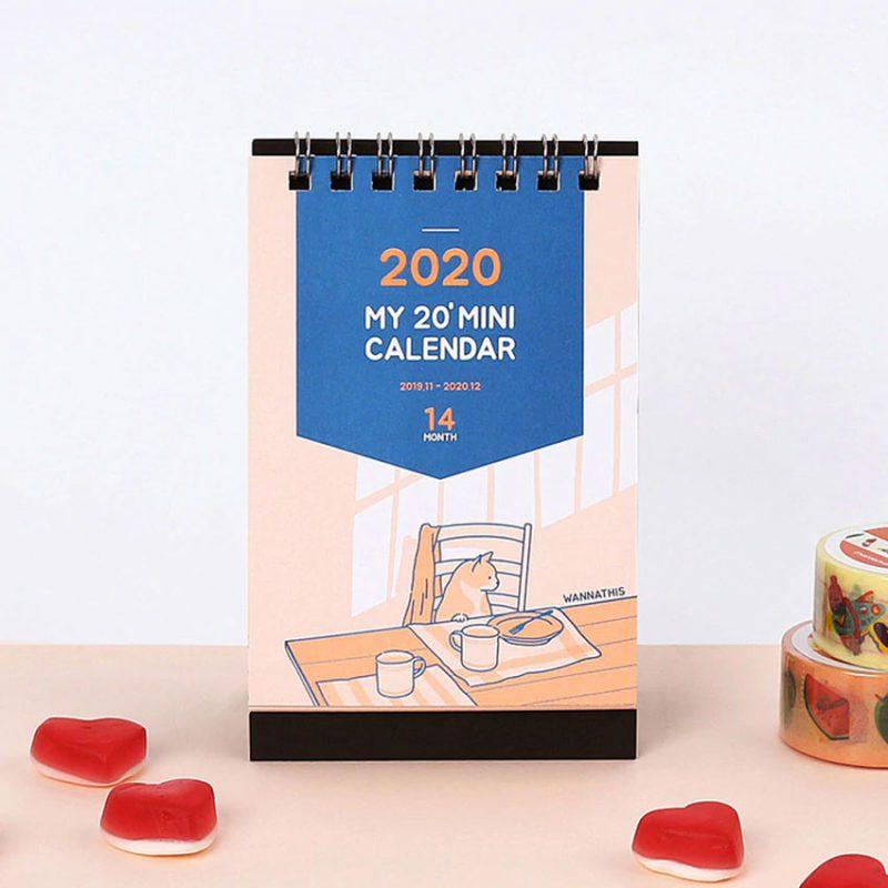 Mẫu lịch để bàn mini siêu dễ thương