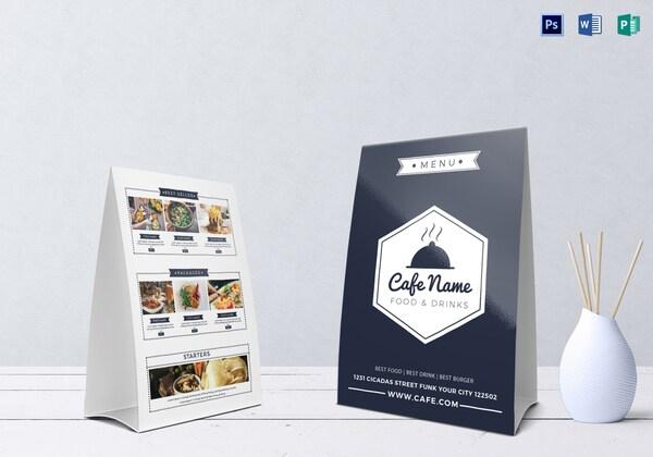 Mẫu thiết kế menu cafe chữ A