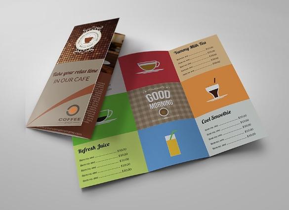 Mẫu menu cafe gập 3