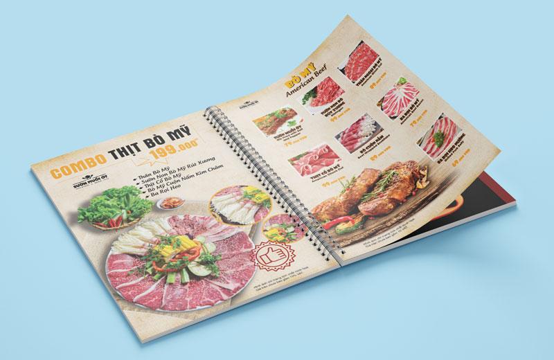 Mẫu thiết kế menu đóng gáy lò xo