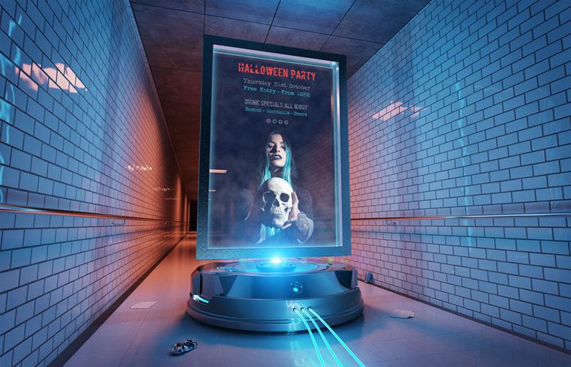 mẫu thiết kế poster cho đêm hội halloween