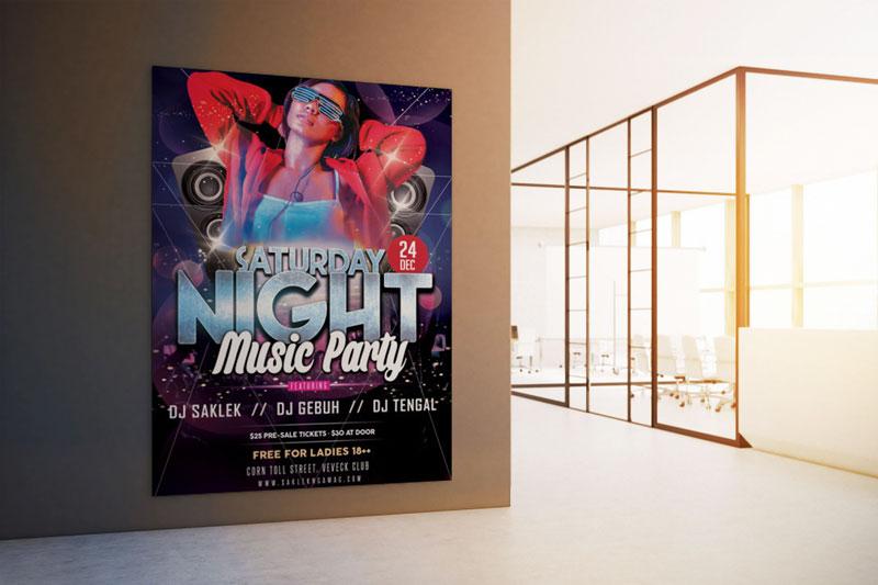 mẫu thiết kế poster đêm nhạc hội ấn tượng