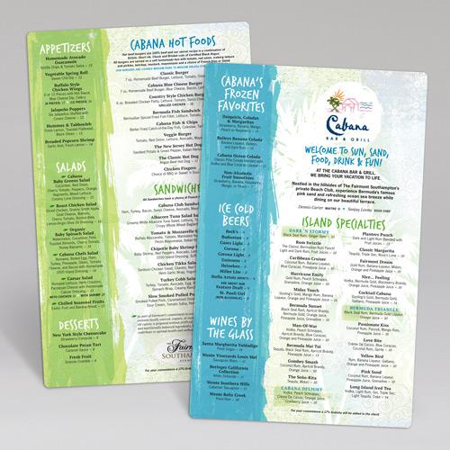 Mẫu menu quán cafe cóc chất liệu nhựa chống nước 100%