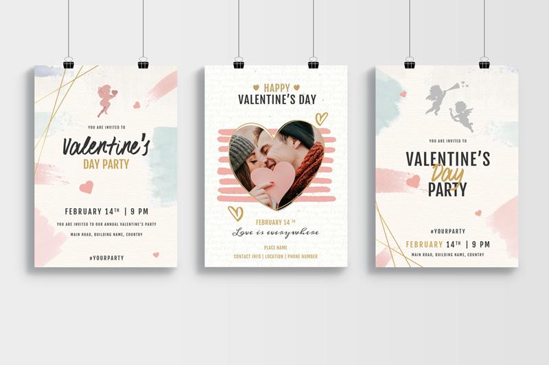 mẫu thiết kế poster valentine