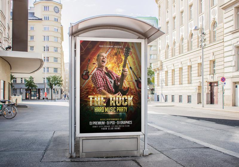 mẫu thiết kế poster đặt tại bến xe buýt