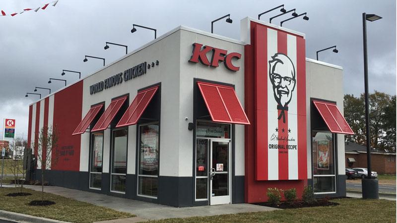 màu sắc trong xây dựng thương hiệu của KFC