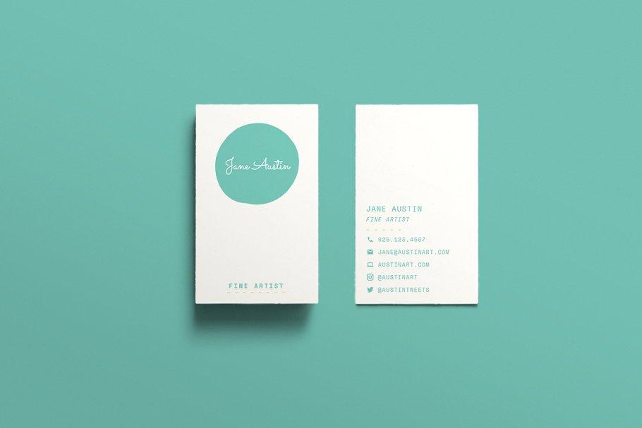 Mẫu thiết kế danh thiếp tối giản siêu đẹp