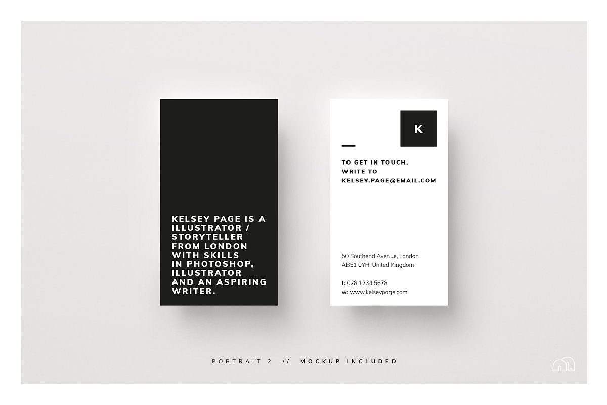 mẫu thiết kế danh thiếp đen và trắng